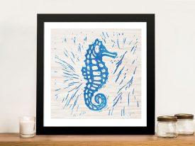 Buy Sea Creature Seahorse Framed Wall Art