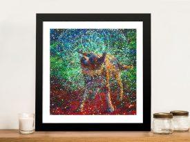 Iris Scott's Collie Finger Painting Dog Framed Wall Art