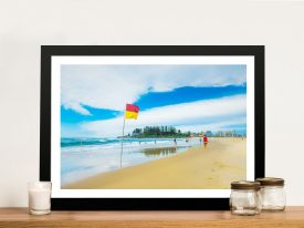 A Day at the beach canvas print