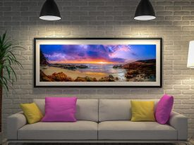Sunset Bay Beach Framed wall Art Australia
