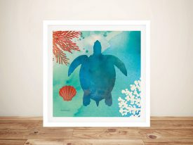 Under The Sea - Turtle Wall Art