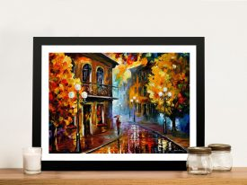 Fall Rain 2 Leonid Afremov Framed Wall Art