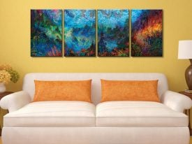 Stormy Splendor - Iris Scott Four Panel Canvas Art