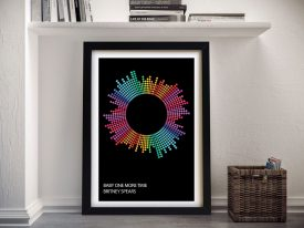 Baby One More Time Soundwaves Print