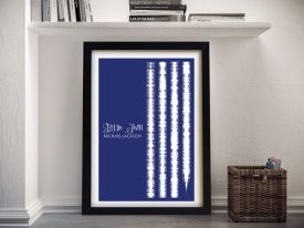 Bille Jean Soundwaves Print