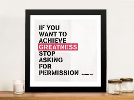 Greatness By Banksy Wall Art Prints