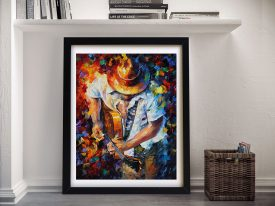 GUITAR AND SOUL Framed Wall Art
