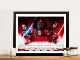 The Last Jedi Characters Movie Art
