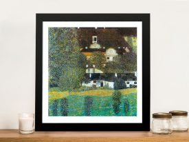 Castle Chamber at Attersee II Classic Artwork On Canvas