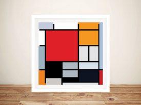 Piet Mondrian Composition Framed Wall Art
