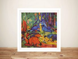 Deer in Forest Classic Wall Art Prints