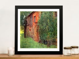 Farmhouse in Chamber in Attersee by Klimt Art Prints