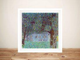 Farmhouse in Upper Austria by Klimt Canvas Art Prints