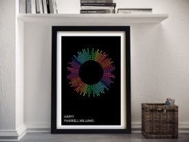 Happy Dotted Beats Framed Art