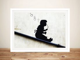 Bubble Girl Banksy Street Art