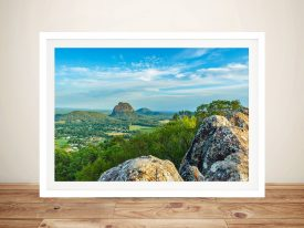 A Print Of The Glass House Mountains