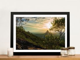 Awesome Print of The Glass House Mountains