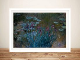 Buy Irises and Water Lilies Framed Wall Art