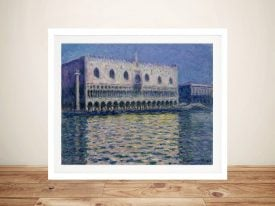 Palazzo Ducale Framed Canvas Monet Artwork
