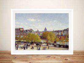 Buy Quai du Louvre by Monet Canvas Art