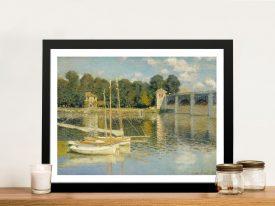 Buy The Bridge at Argenteuil Canvas Print