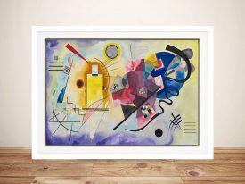 Jaune Rouge Bleu Framed Abstract Print