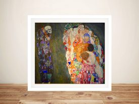 Buy Life and Death Canvas Artwork by Klimt