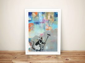 Buy Banksy Rat Abstract Framed Graffiti Wall Art