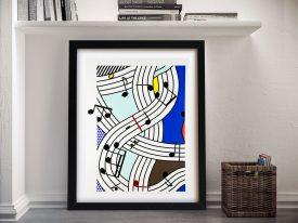 Buy Composition I Lichtenstein Pop Art Print
