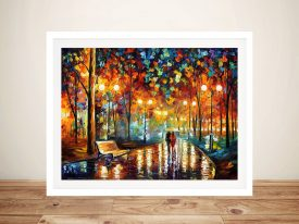 Rain Rustle by Leonid Afremov Artwork Prints
