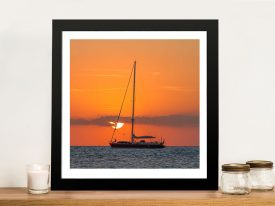 Buy Boat at Dusk Framed Canvas Artwork
