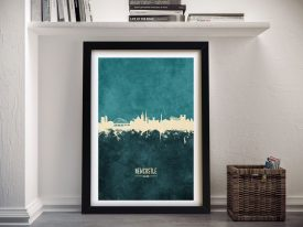 Buy a Print of Newcastle Skyline in Two-Tones