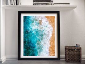 Buy Ocean Watercolour Framed Canvas Prints