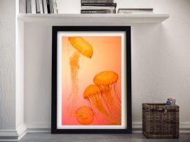 Buy Glowing Jellyfish Underwater Wall Art