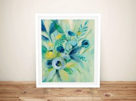 Buy Elegant Blue Floral I Stunning Floral Wall Art