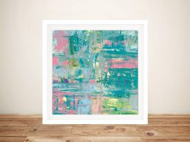 Buy Islands Abstract ll Framed Canvas Print