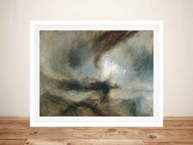 Buy Snow Storm Framed Wall Art by Turner