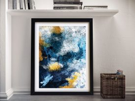Azurite and Gold Framed Wall Picture