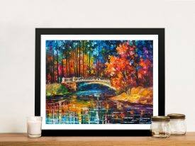 Buy Flowing Under the Bridge Colourful Wall Art