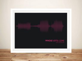 Led Zeppelin Whole Lotta Love Soundwave Art