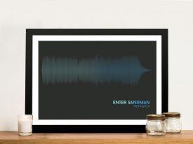 Metallica Enter Sandman Linear Soundwave Framed Wall Art