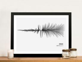 Metallica One Waveform Framed Wall Art
