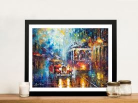 Buy Old San Francisco an Afremov Canvas Print
