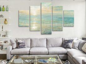 Sunrise By Danhui Nai 5-Piece Wall Art Canvas