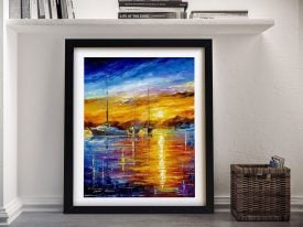 Buy a Boats Sunrise and Happiness Afremov Print