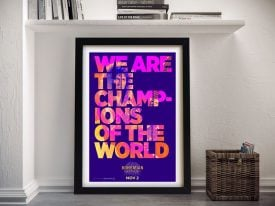 Buy Bohemian Rhapsody Queen Lyrics Wall Art