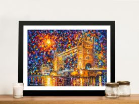 Buy Colourful London Bridge Framed Artwork