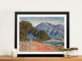 Buy a Framed Canvas Print of Cap Martin