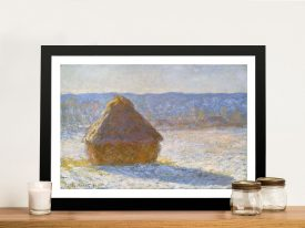 Buy a Print of Haystack in the Morning by Monet