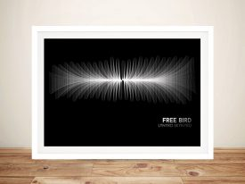 Buy Free Bird Soundwave Canvas Wall Art